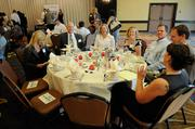 Neil Miller, Julia Jenness, Susan Armstrong, Jeff Dudley, Iain Mickle and Beckye Murrain share a table at the health care reform breakfast.