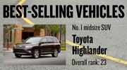 No. 1 midsize SUV. Toyota Highlander, with 13,059 new vehicles registered in 2012. The vehicle ranked No. 23 among all models.