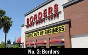 No. 3. In July, Ann Arbor, Mich.-based Borders Group. Inc. announced job cuts of 10,700 as it went out of business.