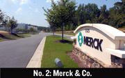 No. 2. Merck & Co., based in Whitehouse Station, N.J., said in July it would lay off 13,000 workers.