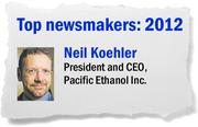 In response to poor market conditions for ethanol, Neil Koehler took steps to make the Sacramento producer of low-carbon renewable fuels more efficient. Pacific Ethanol obtained a controlling interest in its four ethanol production facilities, reduced production, increased liquidity and implemented new technologies.