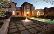 Custom-home buyers are asking for outdoor amenities such as fire pits and water-saving landscaping.