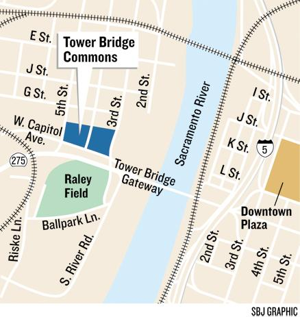 Site work has started on an apartment complex near Raley Field that will feature, among other amenities, a place to wash your dog and repair your bike. Tower Bridge Commons in West Sacramento is being built in two phases.