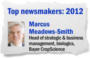 Marcus Meadows-Smith heads a locally-based division of Bayer CropScience, which in 2012 completed its purchase of Davis-based AgraQuest Inc., a global supplier of biological pesticides. The deal, worth close to $500 million, marked the first time a global company had purchased a biopesticide company.