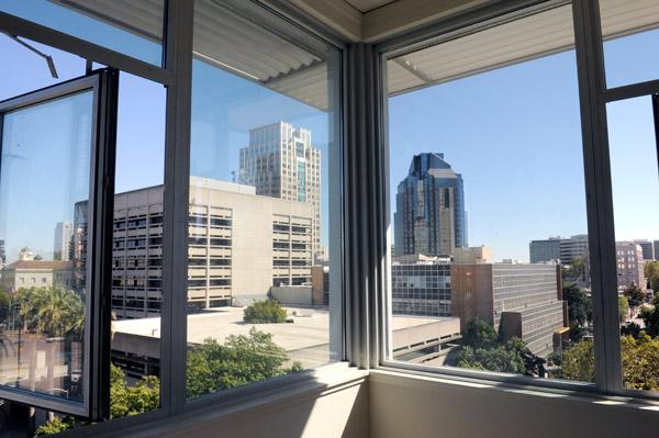 Get a load of the view in a corner apartment at Mercy Housing's 7th and H development. Although it is intended to be affordable housing, Mercy Housing California president Doug Shoemaker said it's a point of pride to make sure it fits with the neighborhood and is still high quality.