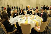 Sacramento's business community celebrated corporate support of local nonprofits at the Sacramento Business Journal's annual Partners in Philanthropy awards. Here, attendees wait for the awards luncheon to begin.