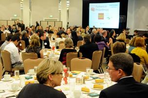 Sacramento's business community on Friday celebrated corporate support of local nonprofits at the Sacramento Business Journal's annual Partners in Philanthropy awards.