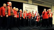 The Sacramento Capitolaires Chorus sang Christmas songs at the Partners in Philanthropy luncheon at the Hyatt Regency Sacramento.