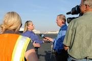 Angie Gibson of Ukiah, manager of PG&E Emergency Services, talks about what PG&E workers will be doing on the East Coast in the wake of Hurricane Sandy. The first group of workers from Northern and Central California boarded a charter aircraft Tuesday at Mather Airport.