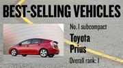 No. 1 subcompact. Toyota Prius, with 60,688 new vehicles registered in 2012. The vehicle ranked No. 1 among all models.