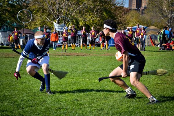 Muggle Quidditch players face off on the pitch at a Quidditch World Cup match. Placer Valley Tourism has landed the Western Regional Championships for Roseville's Maidu Regional Park in February. It will feed in to the Quidditch World Cup, organized by the International Quidditch Association.