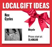 A bicycle from Rex Cycles  Prices start at $1,406.00  Web: rexcycles.com  Address: 1811 E Street, Sacramento  916-446-5706