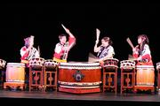 Performers from Sacramento Taiko Dan, a traditional Japanese drum group, perform. The group raised more than $11,000 in a Kickstarter campaign, well over the initial goal. The money is intended for drum repairs.