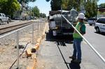 Parking spaces added along railroad corridor