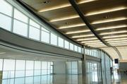 Curves are abundant throughout the terminal.