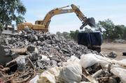 The last of the original Tercero dorms -- just one set of on-campus dorms at UC Davis -- are being demolished now. Workers clear rubble from the demolition, making way for a new set of dorms, but leaving behind plenty of memories from former students.