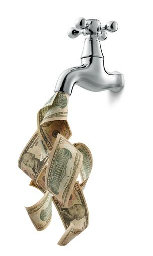 water faucet money