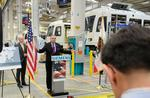 Transportation Secretary <strong>LaHood</strong> tours Siemens light-rail facility