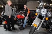 Karen O'Hara, founder of HR to Go Inc., worked with Andrew Westbrook, vice president of Harley-Davidson of Sacramento, when the motorcycle dealership had to lay off workers.