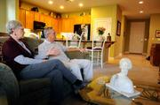 """New homes are selling at Glenbrooke, a Del Webb development. Leo and Kathy Plumley bought there in 2007. They're not concerned about the drop in housing prices, Leo says. """"The way I look at it, when the value goes down, my taxes go down."""""""
