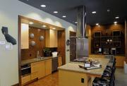 The apartment complex features a communal kitchen for residents to mingle and host parties.