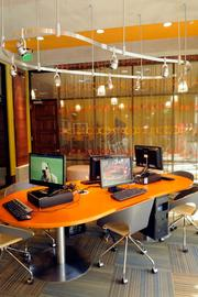 An exercise room and Internet café also provide a place for residents to get together.