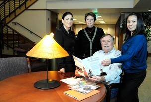 American Leadership Forum CEO Bonnie Ferreira, left,  Nonprofit Resource Center executive director Gail Catlin and ALF's Karen Dejoras Nelson coordinate with Encore fellow Ken Larson.