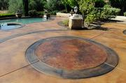 Warren Ruben, co-owner of Artistry in Concrete, made a work of art out of a patio and swimming pool area at a home in Granite Bay.