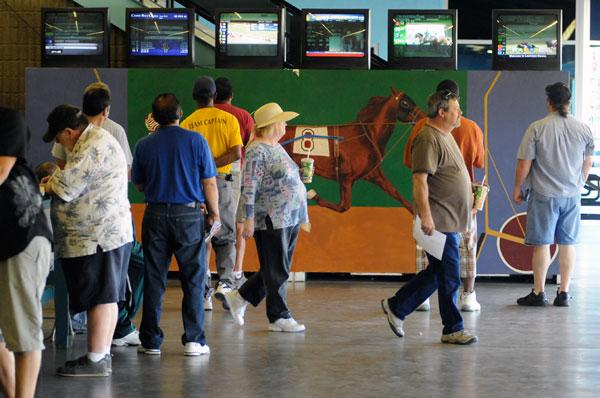 A bill introduced last month would allow open sports betting at operations licensed for gaming, including horse racing tracks like the one at Cal Expo, shown here in 2009.