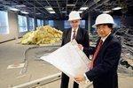 Medical school slows construction