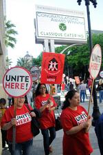 Convention Center's catering staff rallies for higher wages