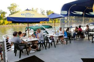 Patrons have been enjoying the river breeze at Crawdad's River Cantina since 1986.
