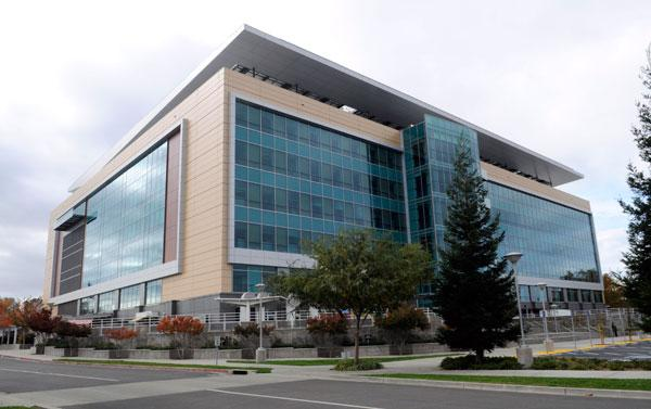 The DMV headquarters building was completed this month.