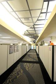Improved interior lighting was a key component to the renovation at the DMV headquarters.