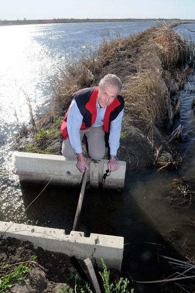 Jack DeWit, who farms rice in the Yolo Bypass, is concerned about the flood management plan and its impact on agriculture.