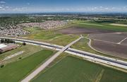 Shown here in early 2012, an overpass on Interstate 5 will be turned into an interchange to set the stage for a development called Delta Shores.