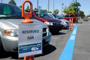 Destinations Mobility, a division of Paratransit Inc., sells vehicles modified for disabled people.