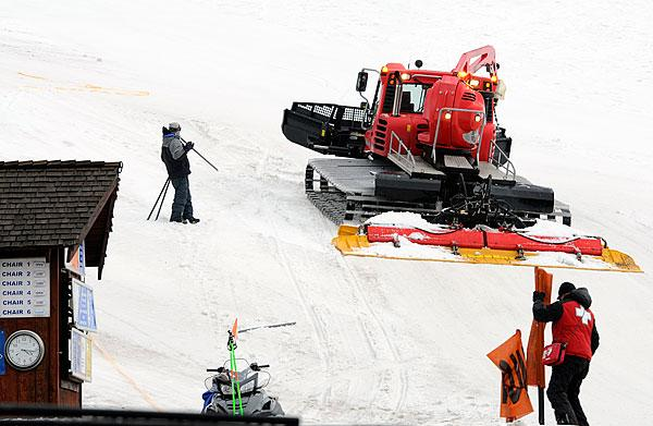 The slopes at Donner Ski Ranch get a spring grooming.