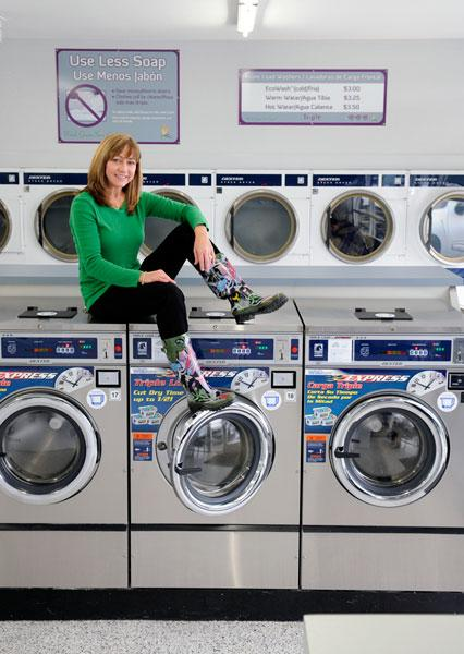 Deborah Dower, co-owner of Paradise Laundries Inc., says energy-saving equipment helps her business.