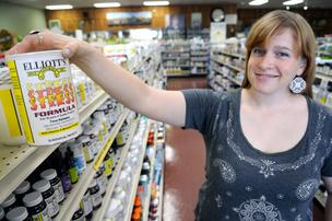 Elliott's Natural Foods store manager Amber Elliott says Foursquare's check-in function sounds a bit more user friendly than Facebook's version.
