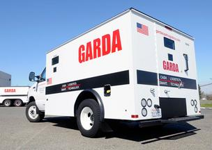Garda Cash Logistics has added smaller vehicles that are bullet resistant, run on gasoline rather than diesel and are more fuel-efficient.