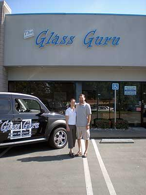 Joy and Dan Frey, founder and chief executive officer of the Glass Guru, at the store and training facility in Roseville. The Glass Guru is expanding to additional locations, bringing the franchise to more than 50 shops in the United States and four in Canada.