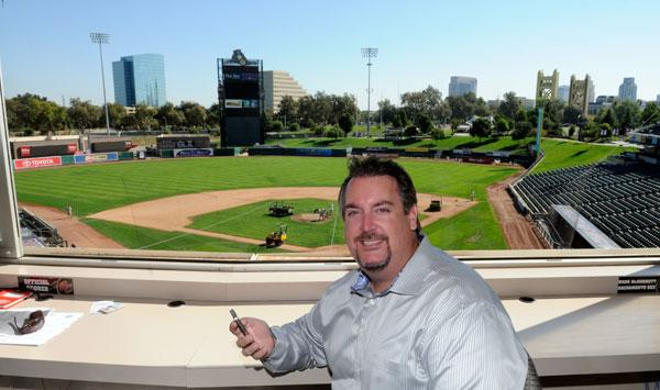 Broadbase Inc.'s Matt Graham came up with the idea of the inGame app, which lets sports fans use their mobile devices to participate in promotions and games while they attend sports events. It will again be used at Sacramento River Cats games at Raley Field.