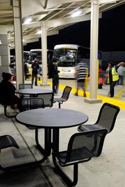 Greyhound was leaning toward building a temporary structure, but Mogavero Notestine Associates designed a bus station that looks like it could be there for as long as it takes to move into a more permanent home downtown.