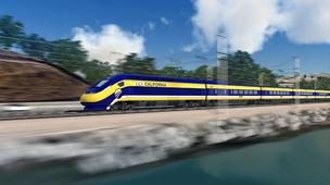 High-Speed Rail car rendering