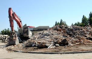 The former Room Source building in the Pointe West Plaza was demolished to make room for a Hobby Lobby that is expected to be opened next spring.