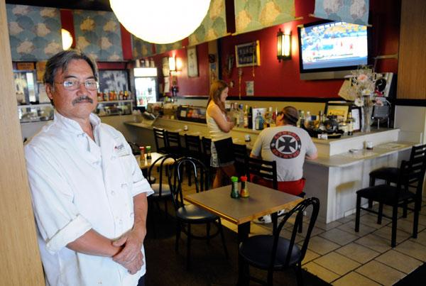 Megami Bento-Ya owner Alan Honda fears a loss of business because of state furloughs.