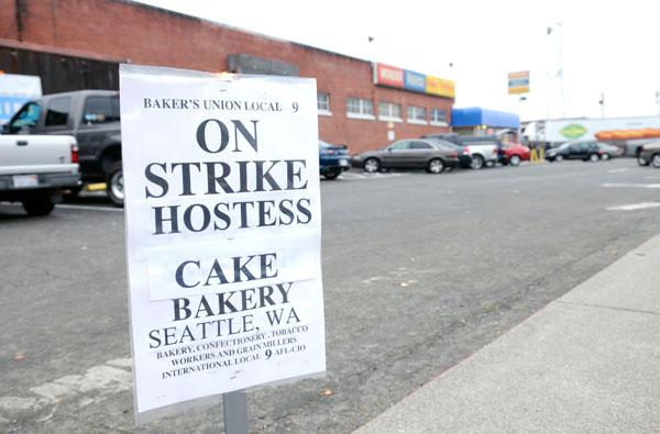 Workers were on strike at the Hostess plant on Arden Way shortly before its owners called it quits.