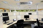 The more traditional workstations at Intel's Folsom office are divided into neighborhoods.