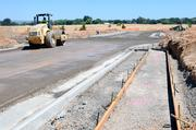 New streets are paved at KB Home's Sierra Vista development in Lincoln. Some builders are increasingly willing to develop their own lots.
